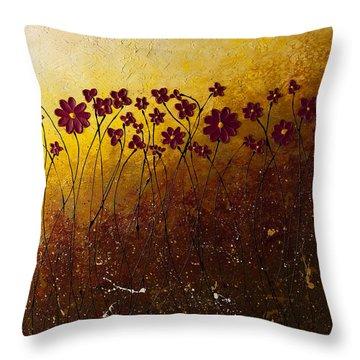 Fiori Di Campo Throw Pillow by Carmen Guedez