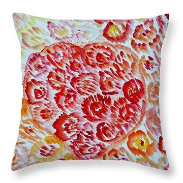 Fioritura Amore Throw Pillow by Sonali Gangane