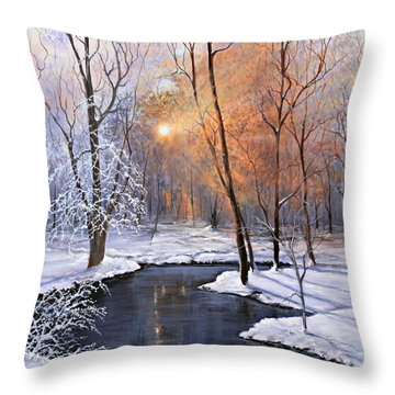 Fire And Ice Throw Pillow by Julie Townsend