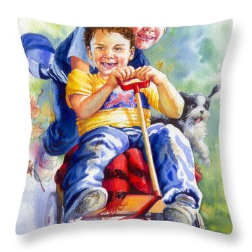 Fire Brigade  Throw Pillow by Hanne Lore Koehler