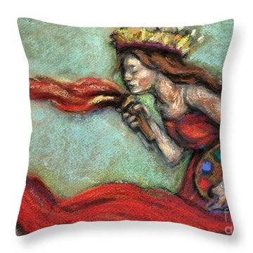 Fire Throw Pillow by Carrie Joy Byrnes