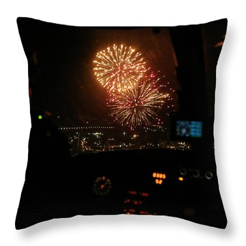 Fire In The Sky Throw Pillow by Paul Job