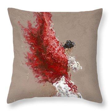 Fire Throw Pillow by Karina Llergo