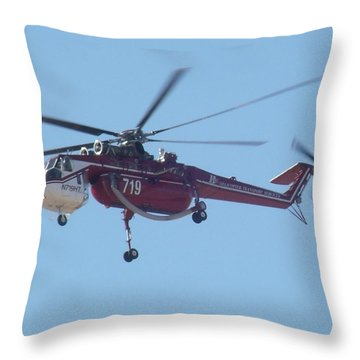 Firefighter Throw Pillow by David S Reynolds