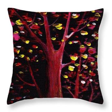 Firefly Dream Throw Pillow by Anastasiya Malakhova
