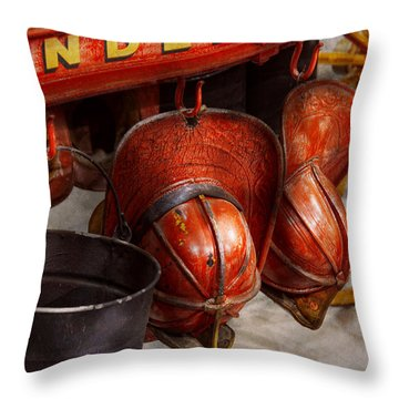Fireman - Hats - I Volunteered For This  Throw Pillow by Mike Savad