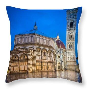Firenze Duomo Throw Pillow by Inge Johnsson