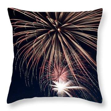 Firework Stack Throw Pillow by Jason Meyer