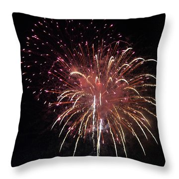 Fireworks Series Xiv Throw Pillow by Suzanne Gaff