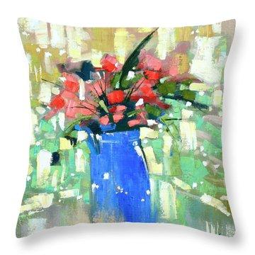 First Day Of Spring Throw Pillow by Anastasija Kraineva