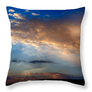 First Morning Light Throw Pillow by Thomas R Fletcher