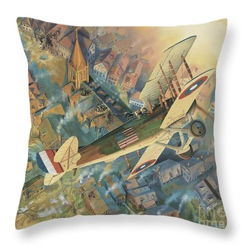 First Over The Front Throw Pillow by Randy Green