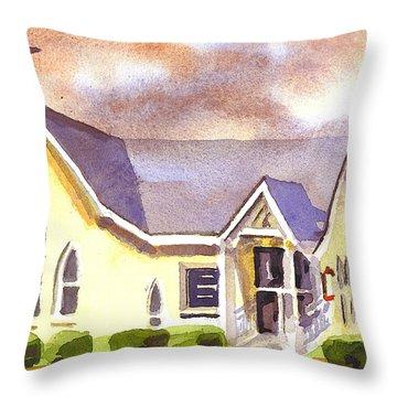 First Presbyterian Church Ironton Missouri Throw Pillow by Kip DeVore