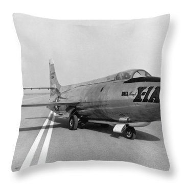 Throw Pillow featuring the photograph First Supersonic Aircraft, Bell X-1 by Science Source