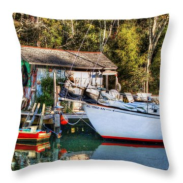 Fish Shack And Invictus Original Throw Pillow by Michael Thomas