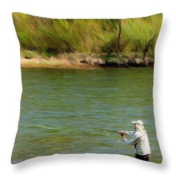 Fishing Lake Taneycomo Throw Pillow by Jeff Kolker
