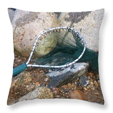 Fishing Net Throw Pillow by Kerri Mortenson