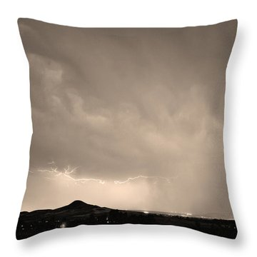 Fist Bump Of Power Sepia Throw Pillow by James BO  Insogna