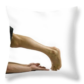 Fit To Fight Throw Pillow by Lisa Knechtel