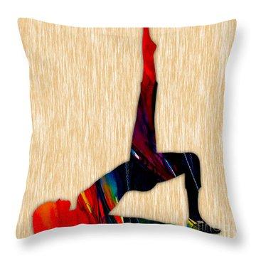 Fitness Yoga Throw Pillow by Marvin Blaine