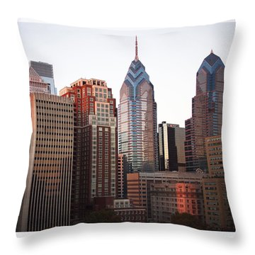 Five O'clock Shadows Throw Pillow by Rona Black