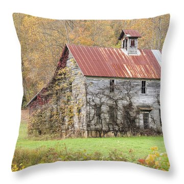 Fixer Upper Barn Throw Pillow by Jo Ann Tomaselli