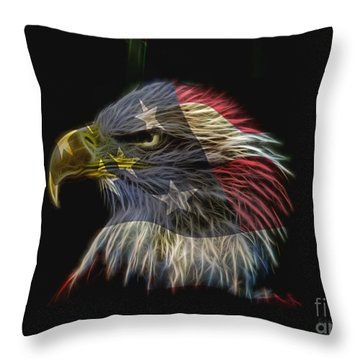 Flag Of Honor Throw Pillow by Deborah Benoit