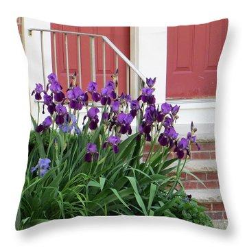 Flags At My Doorstep Throw Pillow by Sonali Gangane