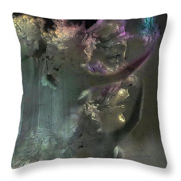 Flame Of Beauty Throw Pillow by Freddy Kirsheh