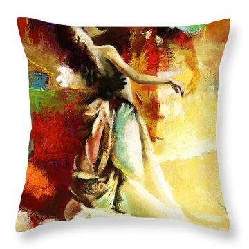 Flamenco Dancer 032 Throw Pillow by Catf