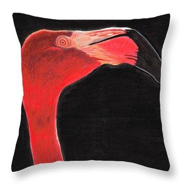 Flamingo Art By Sharon Cummings Throw Pillow by Sharon Cummings