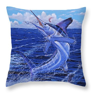 Flat Line Off0077 Throw Pillow by Carey Chen