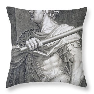 Flavius Domitian Throw Pillow by Titian