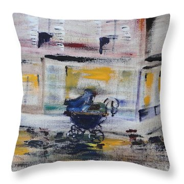 Fleeting Time Throw Pillow by PainterArtist FIN