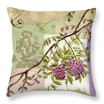 Fleurs Du Champ Throw Pillow by Tamyra Crossley