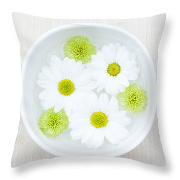 Floating Throw Pillow by Anne Gilbert