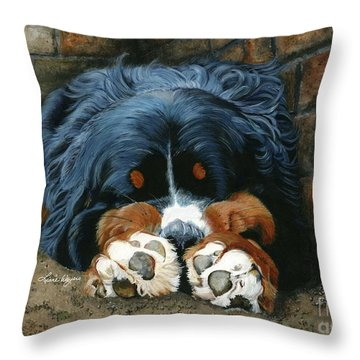 Flop Those Lips Fast Asleep Extra Ventilation Throw Pillow by Liane Weyers