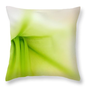 Floral Abstract Throw Pillow by Juergen Roth