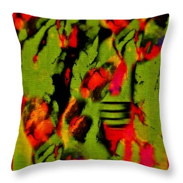 Floral Arrrangement Abstract Throw Pillow by John Malone