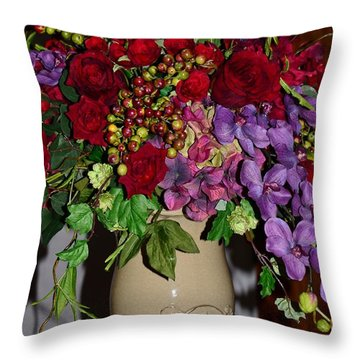 Floral Decor Throw Pillow by Kathleen Struckle