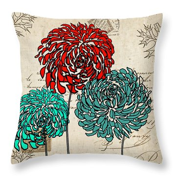 Floral Delight Iv Throw Pillow by Lourry Legarde