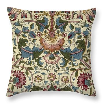 Floral Pattern Throw Pillow by William Morris