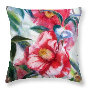 Floral Print Throw Pillow by Nancy Stutes