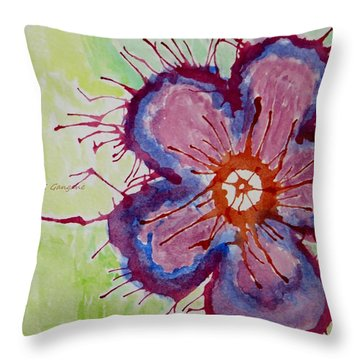 Throw Pillow Synonym : Floral Scatter Painting by Sonali Gangane