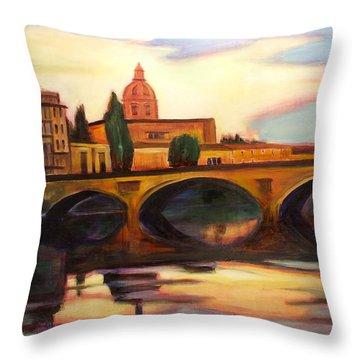 Florence Throw Pillow by Sheila Diemert