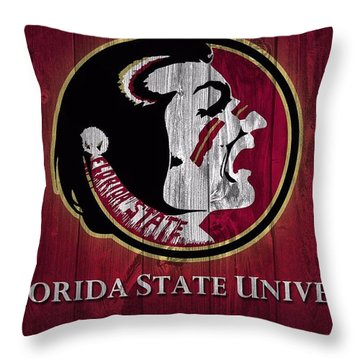 Florida State University Barn Door Throw Pillow by Dan Sproul