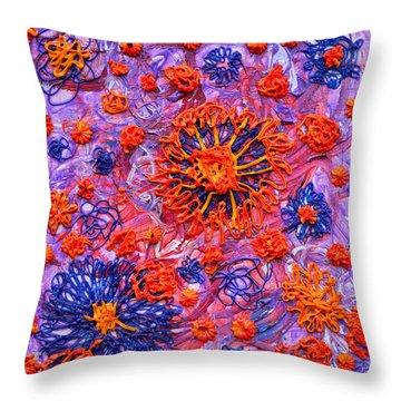 Floridly Floral Throw Pillow by Regina Valluzzi