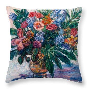 Flower Life Throw Pillow by Kendall Kessler