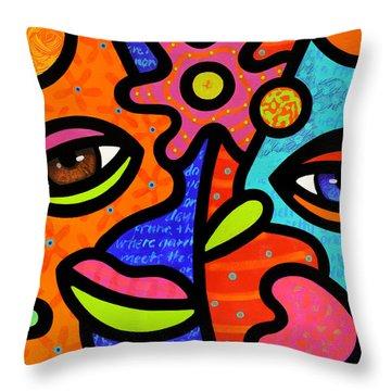 Flower Market Throw Pillow by Steven Scott