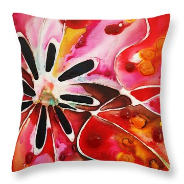 Flower Power - Abstract Floral By Sharon Cummings Throw Pillow by Sharon Cummings